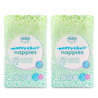 Mum & You Nappychat Eco-Diapers- Size 5, Pack of 2 (52 Count ea) Hypoallergenic, Dermatologically-Tested, and Free-from Lotion, Perfume & Latex