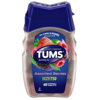 TUMS Extra Strength Antacid Chewable Tablets, Assorted Berries 48 ea [307667388480]