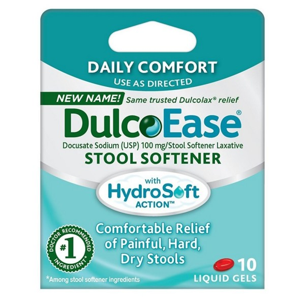 Dulcolax Stool Softener Liquid Gels 10 Ea Pharmapacks