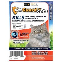 VetGuard Monthly Control Fleas, Ticks & Mosquitoes Treatment for Cats 3 ea [818145010682]