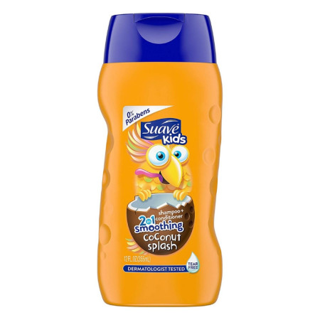Suave Kids 2-in-1 Shampoo+Conditioner Smoothing, Coconut 12 oz [079400206374]