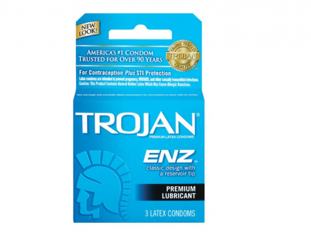 TROJAN Enz Condoms Lubricated Latex 3 Each [022600930501]