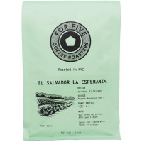 For Five El Salvador La Esperanza Whole Bean 12 oz [853473008031]