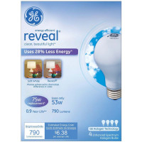 GE Soft White Reveal A Line Halogen Bulb 4 ea [043168677738]