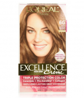 L'Oreal Paris Excellence Creme Triple Protection Hair Color, Light Golden Brown (Warmer) [6G] 1 ea   [071249210611]
