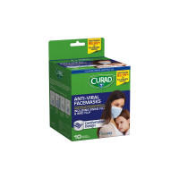 Curad Antiviral Facemasks 10 Each [884389123648]