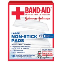 BAND-AID First Aid Non-Stick Pads, Large, 3 in x 4 in, 10 ea [381371161430]