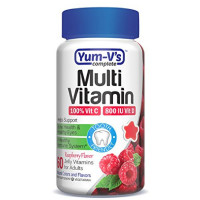 Yum V's Complete Multivitamin and Multimineral for Adults Jellies, Raspberry 60 ea [899105001766]
