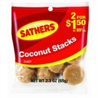 Sathers Coconut Stacks 12 pack (2.3 oz per pack)   [075602101448]