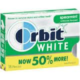 Orbit White Sugar Free Gum Spearmint 8 pack (18 ct per pack)   [022000120069]