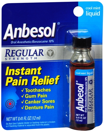Anbesol Liquid Regular Strength Cool Mint 0.41 oz [305730213417]