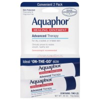 Aquaphor Healing Skin Ointment, Advanced Therapy, 2 Pack, 0.35 oz ea [072140110475]