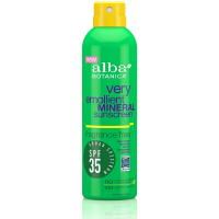 Alba Botanica Very Emollient Mineral Sunscreen SPF 35, Fragrance Free 6 oz [724742004040]