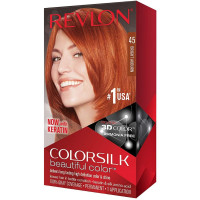Revlon ColorSilk Beautiful Color [45], Bright Auburn, 1 ea [309978695455]