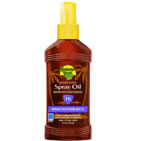 Banana Boat Protective Spray Oil, Sunscreen SPF 15 8 oz [079656004021]