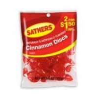 Sathers Cinnamon Discs 12 pack (3.6oz per pack)   [075602101462]