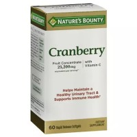 Nature's Bounty Cranberry Softgels Triple Strength 60 Soft Gels [074312137945]