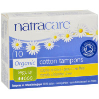 Natracare Organic 100% Cotton Tampons, Regular 10 ea [782126181039]