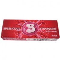 Bubblicious  Strawberry Splash Bubble Gum 18 packs (5ct per pack)  [012546917568]