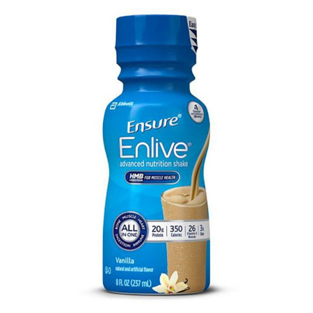 Ensure Enlive Oral Supplement Vanilla, 8 oz  [070074642864]