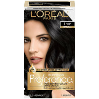 L'Oreal Superior Preference Permanent Hair Color, 1 Ultimate Black 1 ea [071249154946]