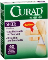 Curad Sheer Bandages One Size 80 Each [080196303055]