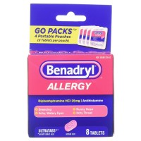 Benadryl Allergy Ultratabs Tablets, Go Packs 8 ea [300450170088]