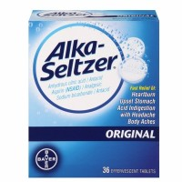 Bayer Alka-Seltzer Effervescent Tablets Original 36 ea [016500564188]
