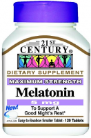 21st Century Melatonin 5mg, Maximum Strength 120 ea [740985270875]