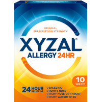 Xyzal 24 Hour Allergy Relief Tablets 10 ea [041167351000]