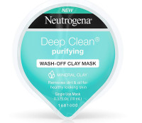 Neutrogena Deep Clean Gentle Purifying Wash-Off Clay Face Mask 0.3 oz [070501154250]