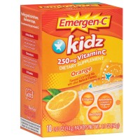 Emergen-C Kidz 250mg Vitamin C Flavored Fizzy Drink Mix, Orange 10 ea [076314304073]
