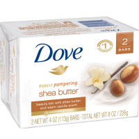 Dove Purely Pampering Shea Butter Beauty Bar, 4 oz, 2 Bar [011111076242]