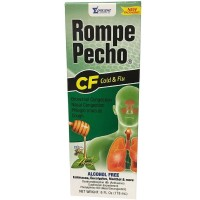 Rompe Pecho CF Cough & Flu Syrup With Honey, 6 oz [000856331068]