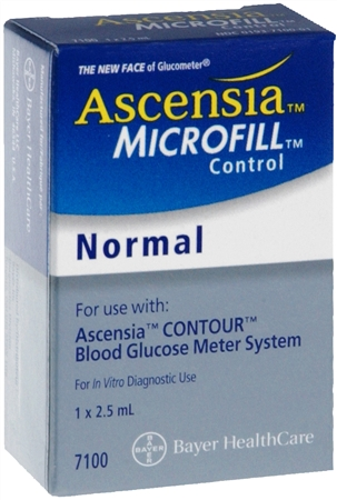 Ascensia MICROFILL Blood Glucose Control Solution Normal 2.50 mL [301937109010]