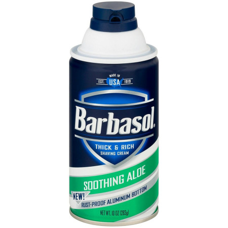 Barbasol Thick & Rich Shaving Cream, Soothing Aloe 10 oz [051009002731]