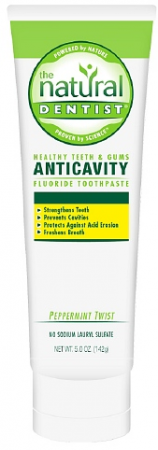 The Natural Dentist Healthy Teeth & Gums Whitening Plus Toothpaste, Peppermint Twist 5 oz [714132000646]