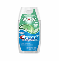 Crest Whitening Plus Scope Toothpaste Liquid Gel, Minty Fresh 4.60 oz [037000385936]