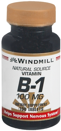 Windmill Vitamin B-1 100 mg Tablets 100 Tablets [035046001162]