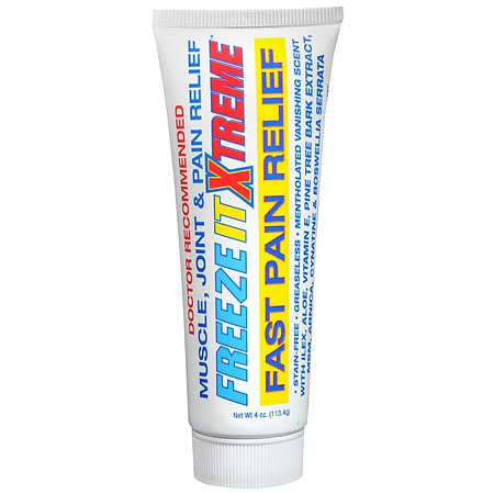 Freeze It Xtreme Pain Relief Cream 4 oz [856569002098]