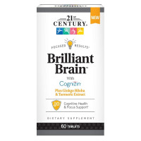 21st Century Brilliant Brain Herbal Supplements,  60 ea [740985279335]