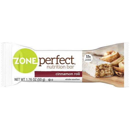 Zone Perfect Nutrition, 1.76 oz bars, Cinnamon Roll 12 ea [638102582737]