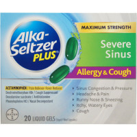 Alka-Seltzer Plus Severe Sinus Congestion Allergy & Cough Liquid Gels 20 ea [016500555285]