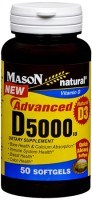 Mason Natural Advanced D5000 IU Softgels 50 Soft Gels [311845153395]