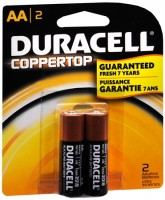 Duracell Coppertop AA Alkaline Batteries 1.5 Volt 2 Each [041333215013]