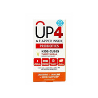 UP4 Kids Cubes Yummy Vanilla Chewables Probiotic Supplement,  60 ea [725334014157]