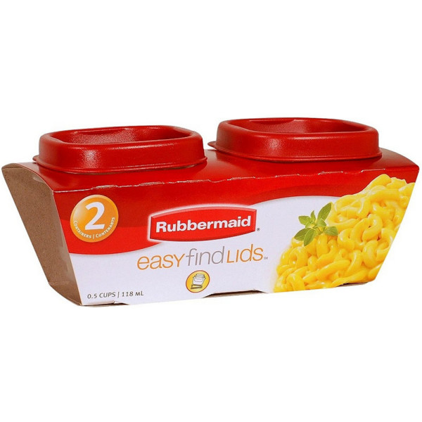 Rubbermaid Easy Find Lids 4 Oz Storage Containers 2 Ea [071691405283]