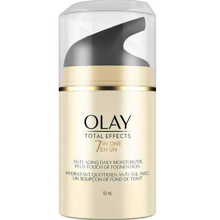 OLAY Total Effects 7 In One Anti-Aging Moisturizer + Touch Of Foundation Light To Medium 1.7 oz [075609190476]