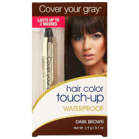 Cover Your Gray  Hair Color Waterproof Touch-Up Stick, Dark Brown 0.10 oz [021959002211]