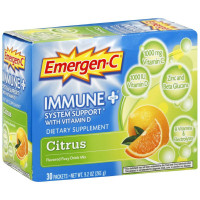 Emergen-C Immune + System Support with Vitamin D Flavored Fizzy Drink Mix, Citrus 30 ea [885898000055]